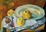 Drapery Painting Prints - Plate of Apples Print by Paul Serusier