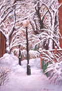 Winter Scenes Pastels Framed Prints - Plateau Alley Framed Print by Rose Wark