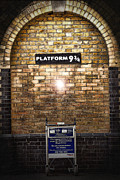 Potter School Framed Prints - Platform 9 3/4 Framed Print by Joanna Madloch
