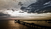 Sea Platform Prints - Platform At Sunset Print by Christos Koudellaris