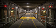 Electric Train Prints - Platform Eight at Union Station Print by Adam Romanowicz