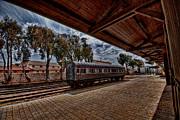 platform view of the first railway station of Tel Aviv Print by Ron Shoshani