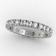 White Topaz Jewelry - Platinum Diamond Eternity Band by Eternity Collection
