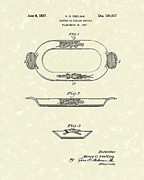 1937 Drawings Framed Prints - Platter 1937 Patent Art Framed Print by Prior Art Design