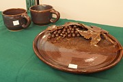 Carol Miller - Platter with Grape Design