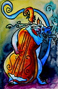 Beverley Harper Tinsley Paintings - Play A Smokin Tune by Beverley Harper Tinsley