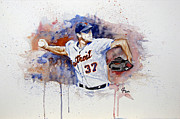 Detroit Tigers Mixed Media - Play Ball by Joseph Everson