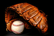 Glove Framed Prints - Play Ball Framed Print by Olivier Le Queinec