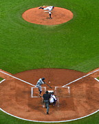 Cleveland Indians Stadium Prints - Play Ball Print by Robert Harmon