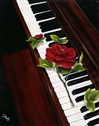 Piano Keys Painting Originals - Play for Me by Susan Murphy