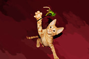 Kitten Digital Art - Play Time by Lynda Dawson-Youngclaus