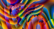 Scottish Digital Art - Play with Colours World Map by Hakon Soreide