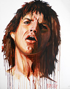Mick Painting Originals - Play with Fire by Carole Diane Heslin