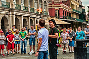 Jugglers Posters - Play with Fire - Jackson Square New Orleans Poster by Kathleen K Parker