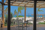 Sense Prints - Playa Blanca Restaurant Bar Area Punta Cana Dominican Republic Print by Heather Kirk