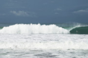 Seafoam Prints - Playa Hermosa Wave Number Three Central Pacific Coast Costa Rica Print by Michelle Wiarda