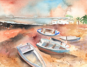 Lanzarote Paintings - Playa Honda in Lanzarote 05 by Miki De Goodaboom