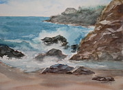 Lighthouses Paintings - Playa Zicatela Mexico by Mohamed Hirji
