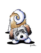 Playful Havanese Print by Kim Niles