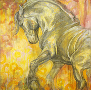 Horse Images Prints - Playful Joy Print by Silvana Gabudean