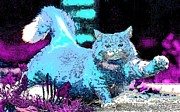 Puppies Digital Art - Playful Kitty by Kathy Budd