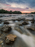 Playful River Print by Davorin Mance