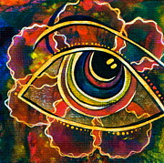 Healing Art Paintings - Playful Spirit Eye by Deborha Kerr