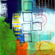 Contemporary Abstract Mixed Media Prints - Playground Print by Linda Woods
