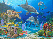 Nassau Grouper Prints - Playground Re004 Print by Carey Chen