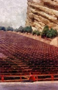 Stadium Digital Art - Playing at Red Rocks by Michelle Calkins