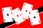 Casino Digital Art Prints - Playing Cards Aces Print by Natalie Kinnear