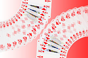 Playing Cards Digital Art - Playing Cards all the Diamonds by Natalie Kinnear