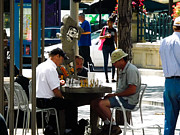 16th St. Mall Posters - Playing Chess Downtown Denver Poster by Tyler Ross