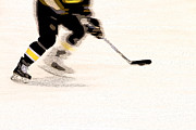 Hockey Player Photos - Playing The Game by Karol  Livote