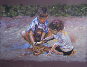 Games Pastels - Playing With Sand by Ana Munoz