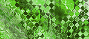 Playing With Squares - Green Print by Andrada Anghel