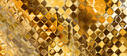Playing With Squares- Gold Print by Andrada Anghel