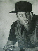 Gospel Drawings Prints - Playlist-Lecrae Print by Patrick Carrington