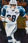 Autographed Paintings - PlayMaker - Print by Rob Jackson