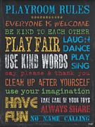 Playroom Rules Print by Debbie DeWitt
