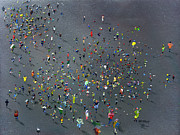 Crowds Paintings - Playtime by Neil McBride