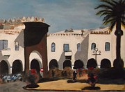 Pity Framed Prints - Plaza Espania Larache Framed Print by Harry Pity