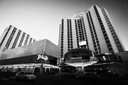 Plaza Hotel Posters - plaza hotel and casino downtown Las Vegas Nevada USA Poster by Joe Fox