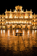Castilla Posters - Plaza Mayor in Salamanca Poster by JR Photography