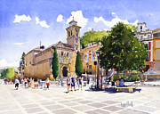 Plaza Nueva Print by Margaret Merry