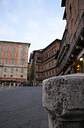 Sienna Italy Prints - Plaza Print by Robert Talbot