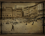 Plaza Siena Italy Print by Jim Wright