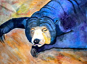 Animal Mixed Media Metal Prints - Pleasant Dreams Metal Print by Debi Pople