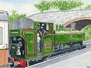 'please May I Drive?' - Llangollen Steam Railway - North Wales  Print by Peter Farrow