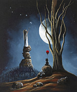 Moon Paintings - Please Tell Him We Still Miss Him by Shawna Erback by Shawna Erback